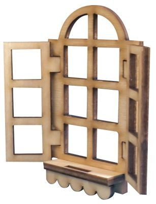 - M10 Kanatlı Pencere Ekmeklik Süsü Ahşap Obje