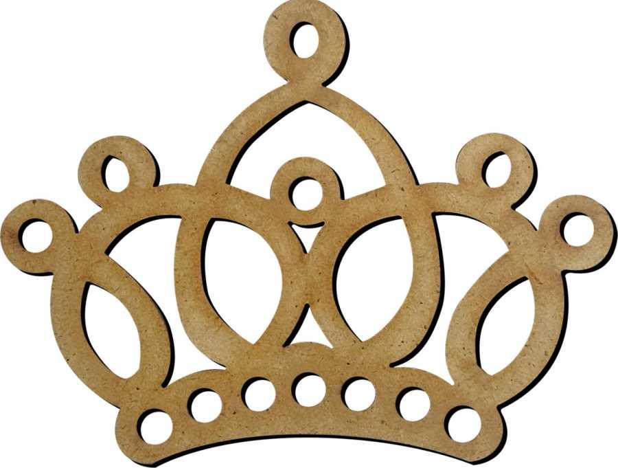M13 Prenses Taç Ahşap Obje