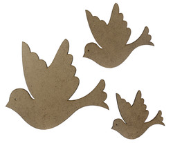 - M18 Üçlü Kuş Ahşap Obje