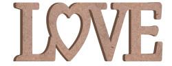 - M22 Love Birleşik Yazı Ahşap Obje