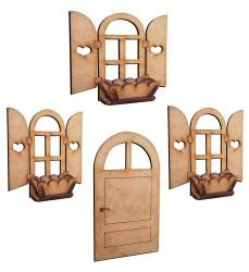 - M28 Kapı Pencere Saksı Set Ekmeklik Poşetlik Süsü