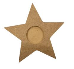 - M33 Ahşap Yıldız Mumluk