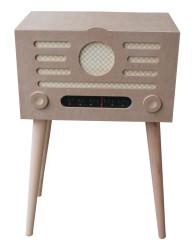 - M36 Dekoratif Ayaklı Ahşap Radyo