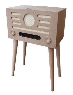 M36 Dekoratif Ayaklı Ahşap Radyo