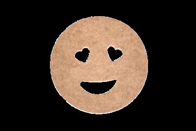 M61 Ahşap Kurabiye Adam Kalpli Gözler