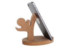 M62 Ahşap Kareteci Telefon Standı - Thumbnail