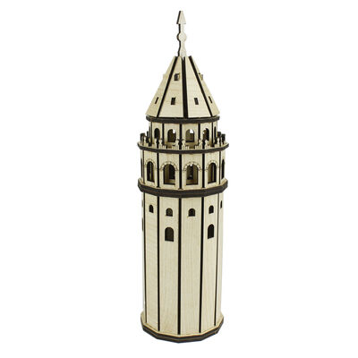 - MS9 Ahşap Maket Set Galata Kulesi
