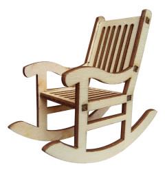- My4 Minyatür Sallanan Sandalye Ahşap Obje