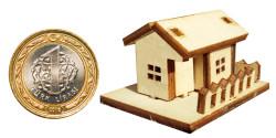 - My44 Minyatür Küçük Ev Ahşap Obje
