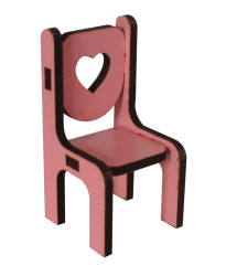 - MY71 Pembe minyatür Sandalye