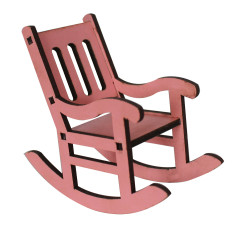 - MY72 Pembe minyatür Sallanan Sandalye