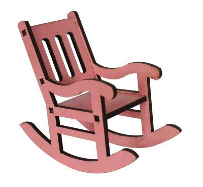 MY72 Pembe minyatür Sallanan Sandalye