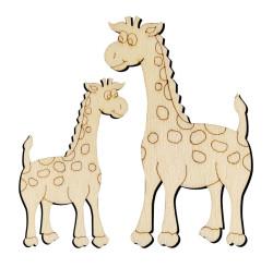 - O10 Zürafa Set Paket Süs Ahşap Obje