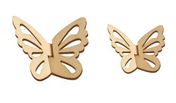 - O101 İkili Kelebek Set Paket Süs Ahşap Obje