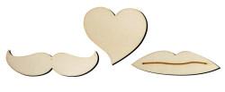 - O102 Bıyık Dudak Kalp Set