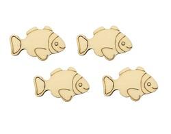 O120 Balık Obje Dörtlü - Thumbnail