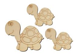 - O9 Kaplumbağa Set Paket Süs Ahşap Obje