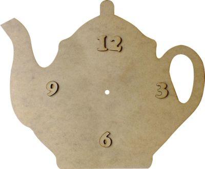 S1 Çaydanlık Saat Ahşap Obje