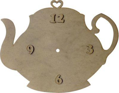S2 Kalpli Çaydanlık Saat Ahşap Obje