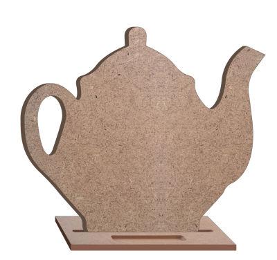 - T1 Çaydanlık Kara Tahta Ahşap Obje