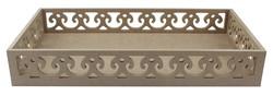 - TP33 Kenarları Motifli Dikdörtgen Tepsi 46 cm