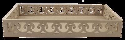 TP33 Kenarları Motifli Dikdörtgen Tepsi 46 cm