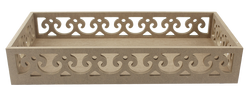 TP34 Kenarları Motifli Dikdörtgen Tepsi 41 cm - Thumbnail