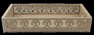 TP34 Kenarları Motifli Dikdörtgen Tepsi 41 cm