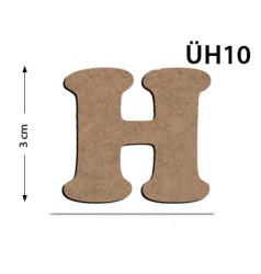 - ÜH10 Ahşap 3Cm H Harfi