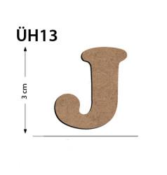 - ÜH13 Ahşap 3Cm J Harfi
