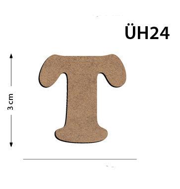 üh24 Ahşap 3cm T Harfi 3 Cm Harf Ve Rakam