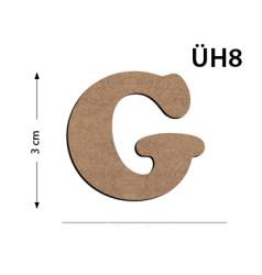 - ÜH8 Ahşap 3 cm G Harfi