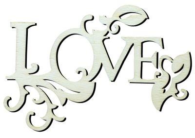 - Y12 Love Yazısı Ahşap Obje