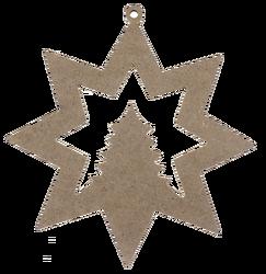 - YB28 Asılabilir Yıldız Yılbaşı Süsü 18 cm