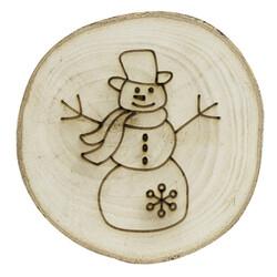 - YB33 Doğal Ağaç Yılbaşı Süsü Kardan Adam