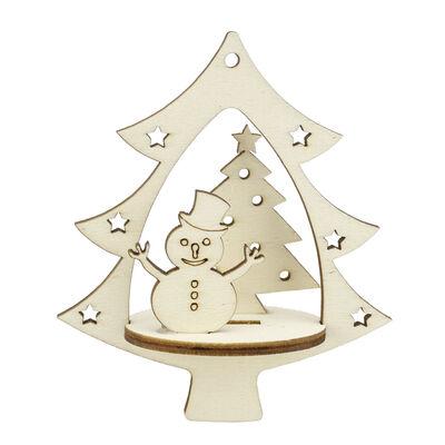 YB52 Yılbaşı Ağaç Süsü Kardan Adam Çam Ağacı